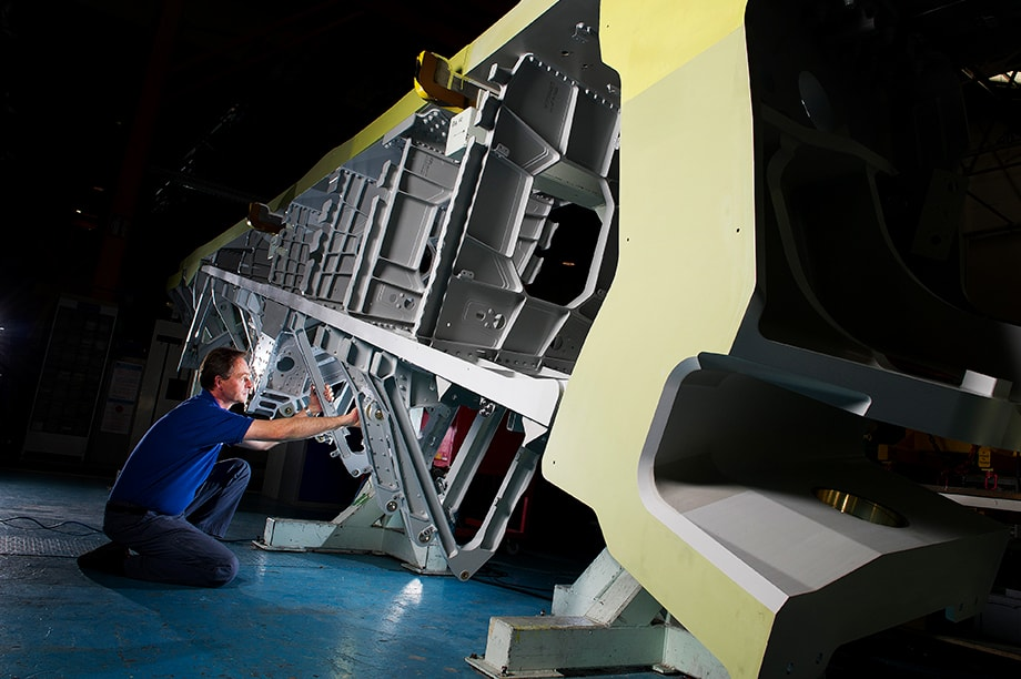 The inner spar of the wing of the A380, in production at GKN Aerospace