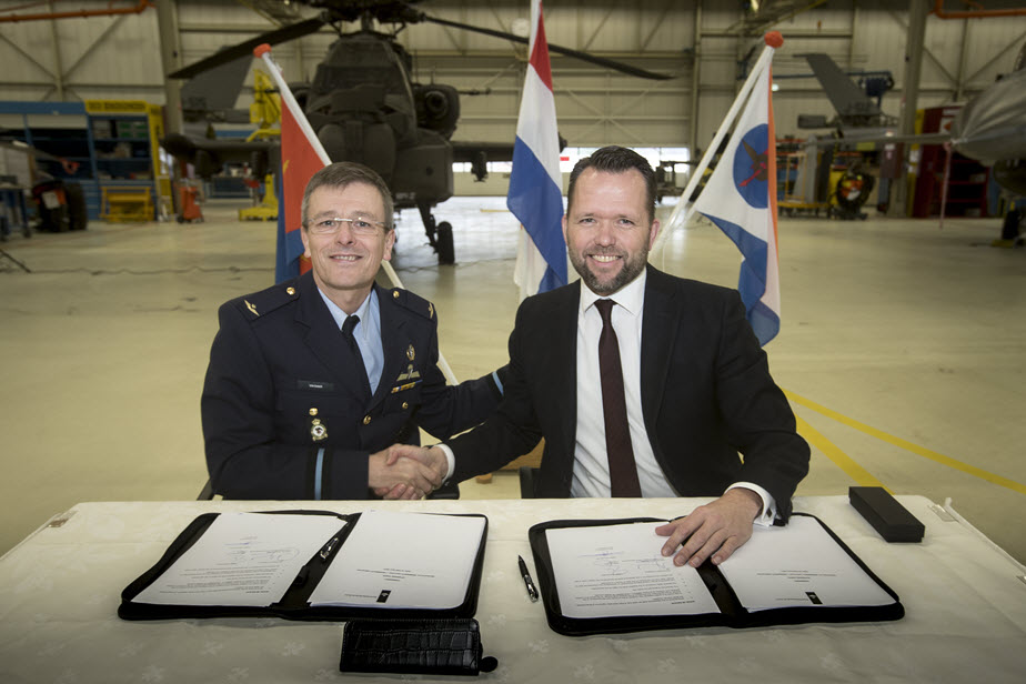 GKN Aerospace's Fokker business and Dutch MOD sign total support agreement