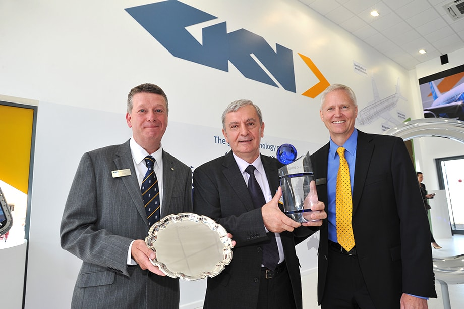 GKN Aerospace presents the Premier supplier award to SC Aerosatar