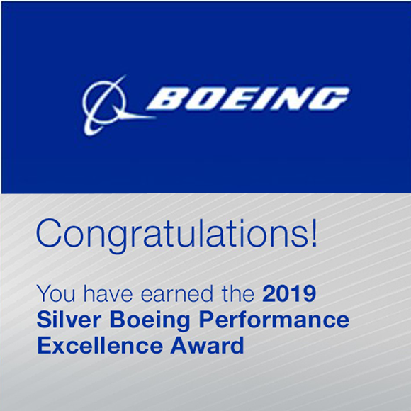GKN Aerospace receives Silver Boeing Performance Excellence Award