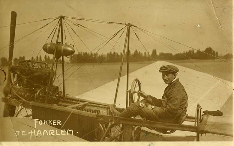 Fokker's flight in his Spider (Spin)