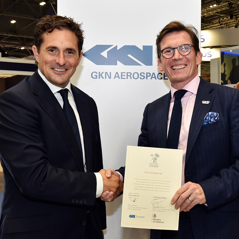 GKN Aerospace has today signed the UK Armed Forces Covenant demonstrating its commitment to serving personnel – active, reservist – within the business, as well as their families.