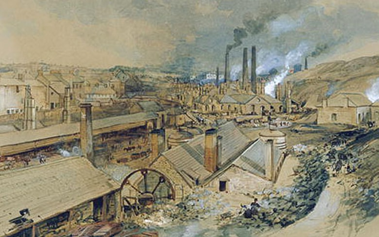 Dowlais Iron Co on 19 September 1759 in Dowlais, near Merthyr Tydfil in South Wales