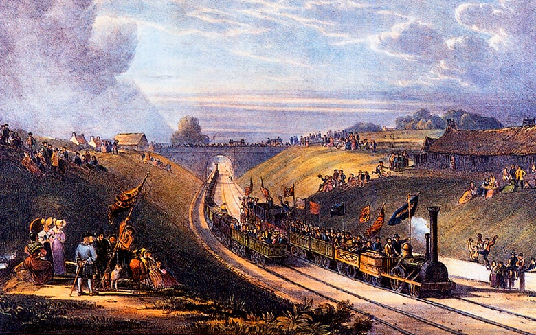 The opening of the Glasgow and Garnkirk Railway