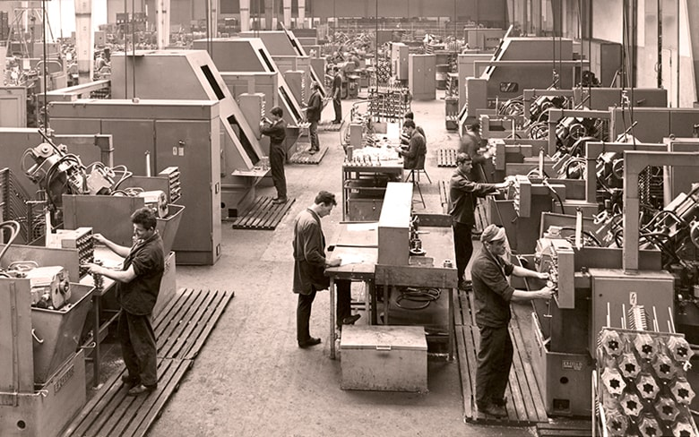 GKN car components; Factory floor, 1950s; Steel production
